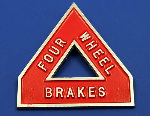 Four Wheel Brakes Badge