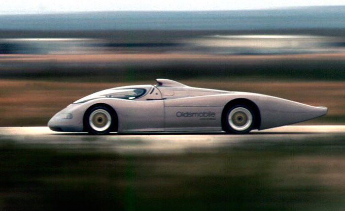 1992 Oldsmobile Aerotech on the track
