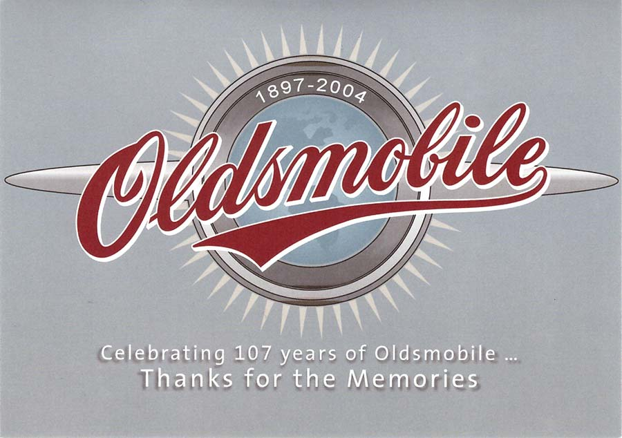 Oldsmobile Farewell Invite Card Front