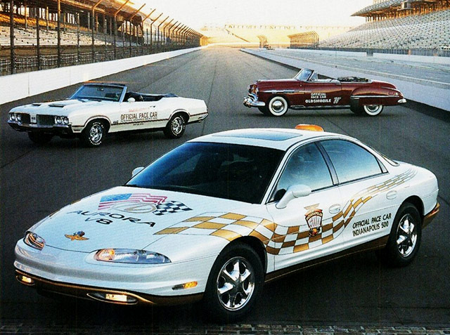 1949 1970 and 1997 Oldsmobile Pace Cars