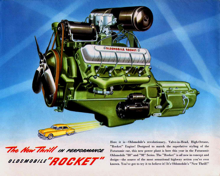 1949 Oldsmobile Rocket Engine