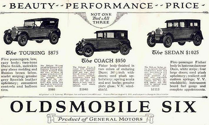 1926 Oldsmobile Six Ad