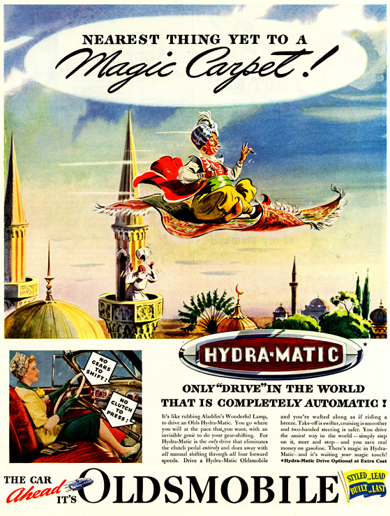 1941 Oldsmobile Magic Carpet Ad