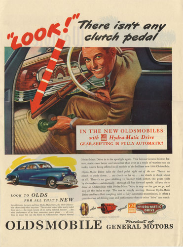 1946 Oldsmobile No Clutch Ad