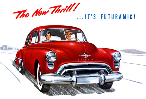 1949 Oldsmobile Futuramic Ad
