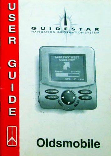 Oldsmobile Guidestar Manual Picture