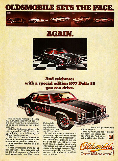 1977 Oldsmobile Delta 88 Pace Car