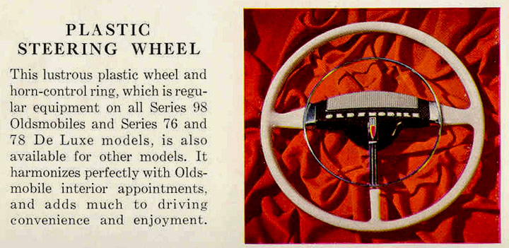 1946 Oldsmobile Plastic Steering Wheel